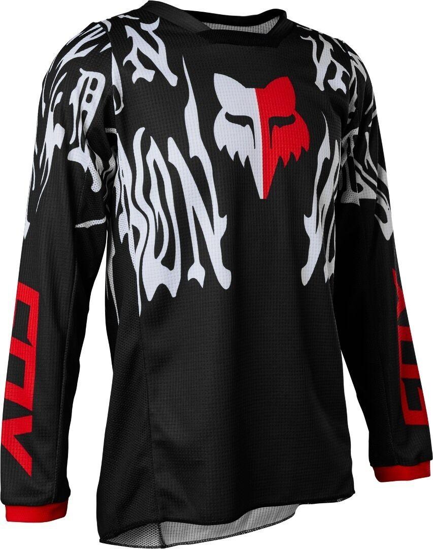 FOX 180 Peril Maillot de motocross pour les jeunes Noir Blanc taille : XL