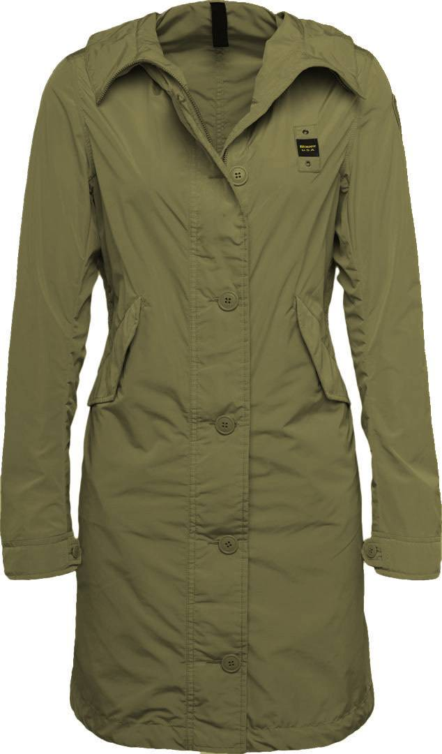 Blauer USA Long Unlined Trench Mesdames imperméable Vert taille : L