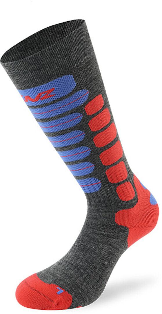 Lenz Skiing 2.0 Kids Socks Chaussettes pour enfants Gris Rouge Bleu taille : 31 32 33 34