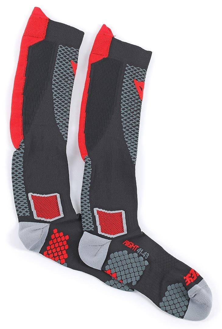 Dainese D-Core Dry High Chaussettes Noir Rouge taille : S