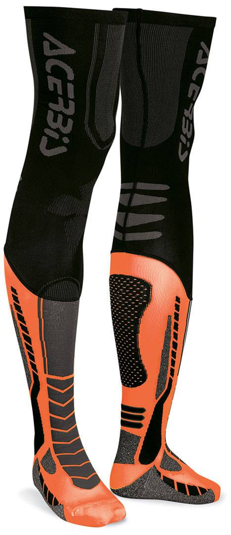 Acerbis X-Leg Pro Chaussettes Noir Orange taille : L XL