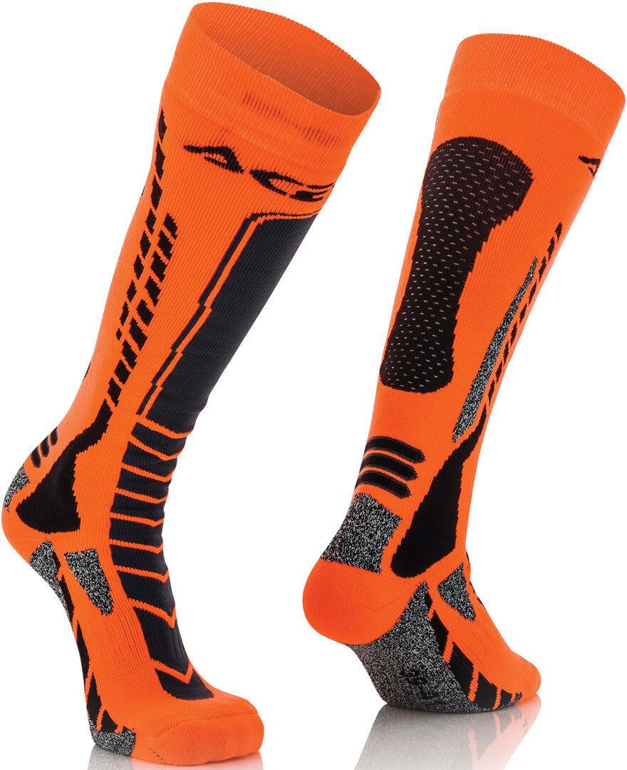 Acerbis MX Pro Chaussettes Noir Orange taille : S M