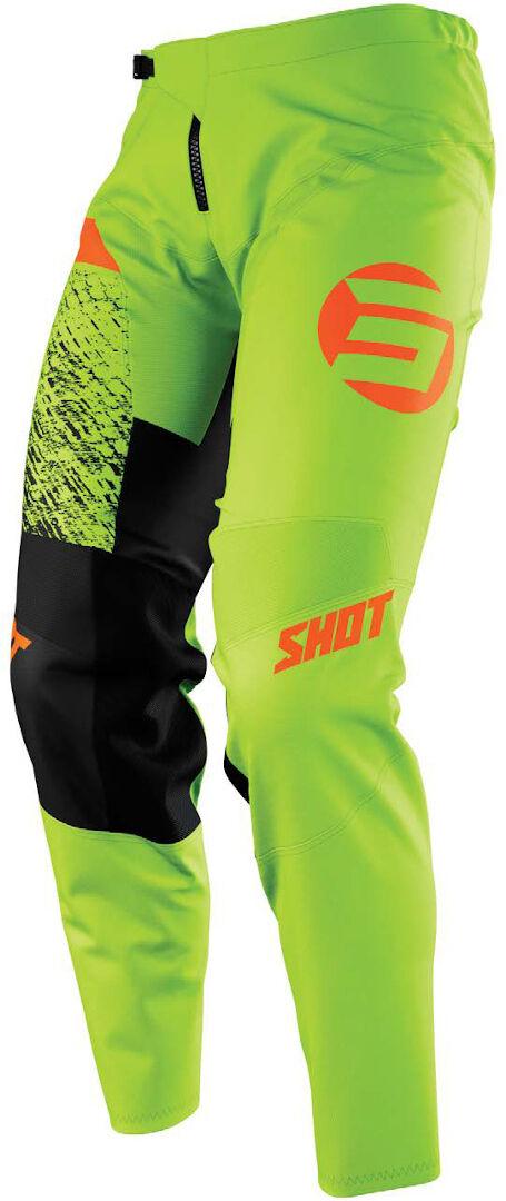 Shot Devo Roll Pantalon de motocross pour enfants Vert Orange taille : 6/7