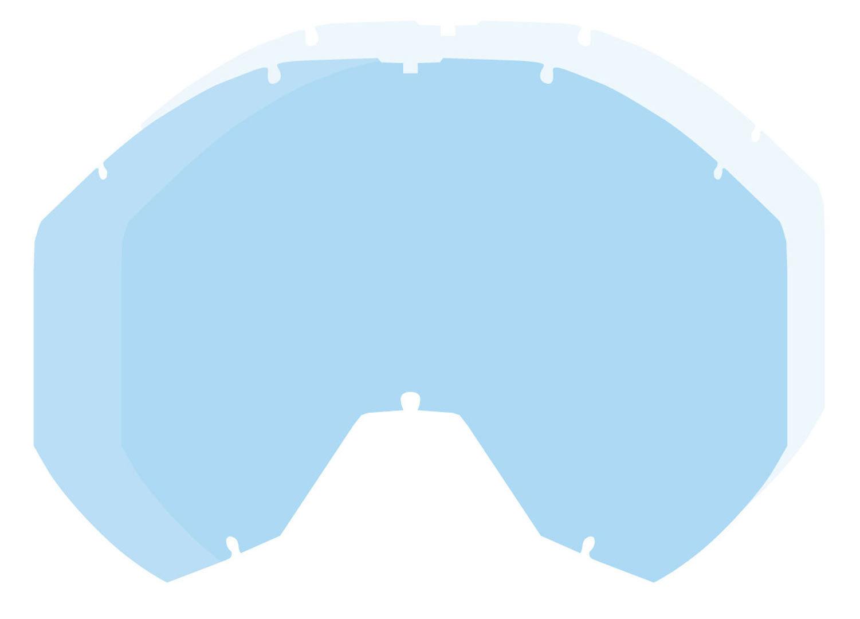 Klim Radius Pro Dbl Lentille de remplacement Bleu taille : unique taille