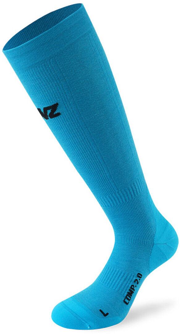 Lenz Compression 2.0 Merino Chaussettes Bleu taille : XL