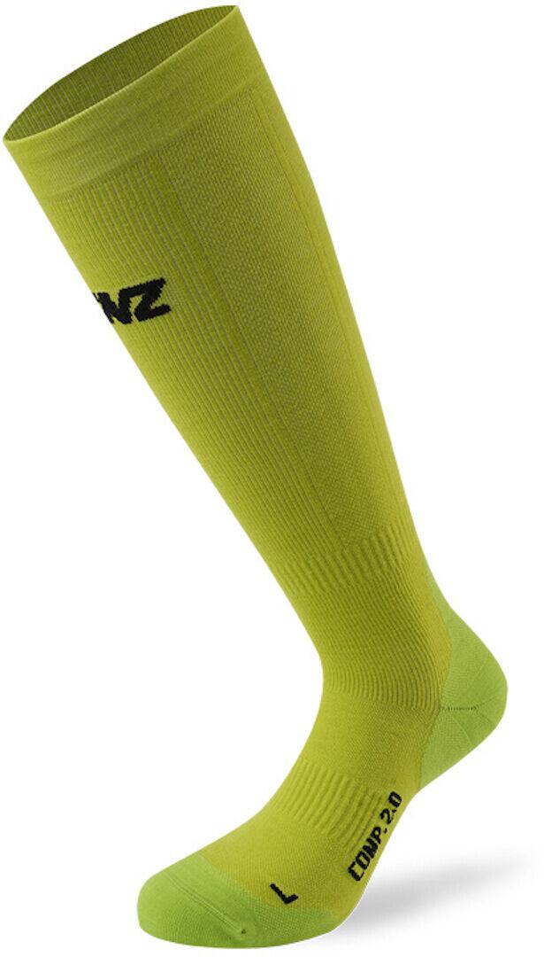 Lenz Compression 2.0 Merino Chaussettes Vert taille : XL