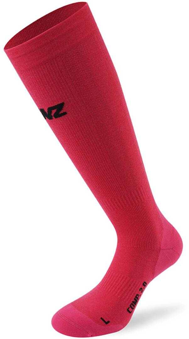 Lenz Compression 2.0 Merino Chaussettes Rose taille : L