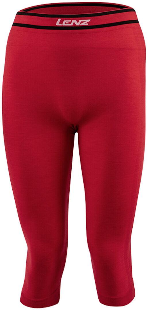 Lenz 6.0 Merino 3/4 Pantalon fonctionnel Rouge taille : M