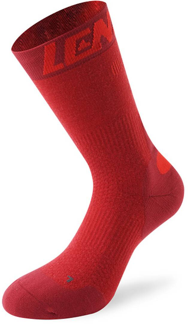 Lenz 7.0 Mid Merino Compression Socks Chaussettes Rouge taille : 45 46 47
