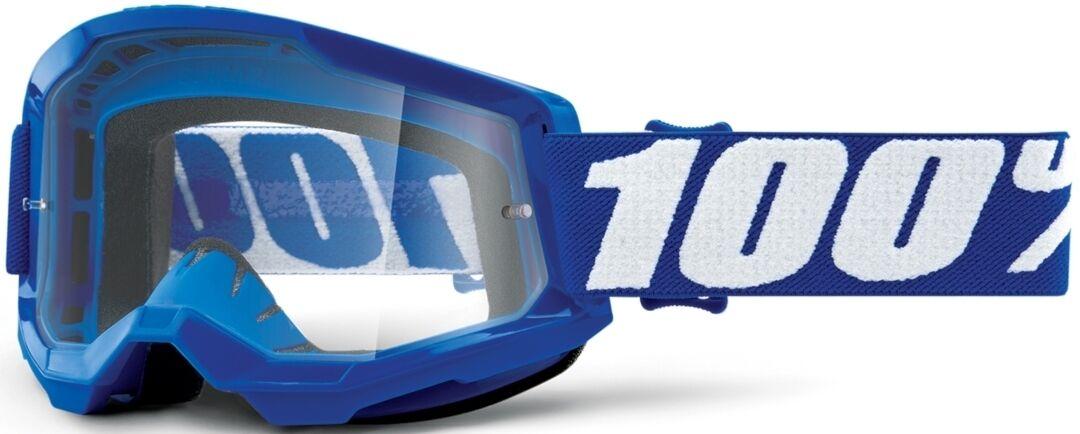 100% Strata II Lunettes de motocross Blanc Bleu taille : unique taille