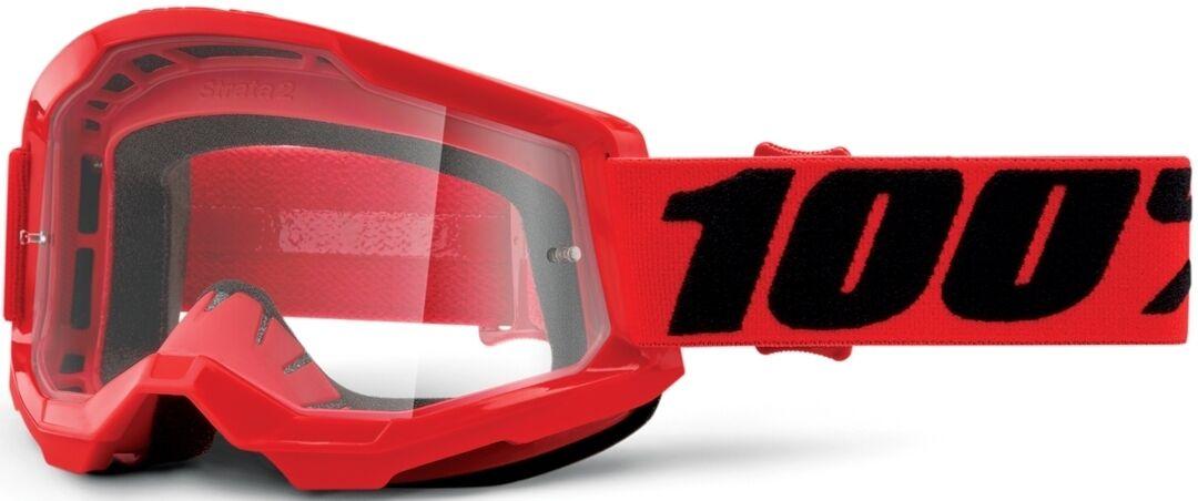 100% Strata II Lunettes de motocross Noir Rouge taille : unique taille