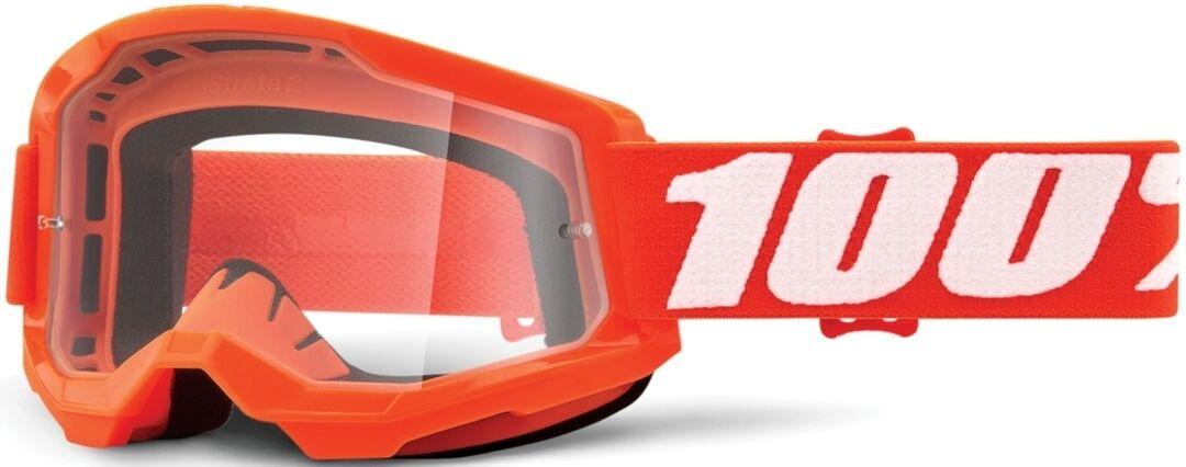 100% Strata II Lunettes de motocross Blanc Orange taille : unique taille