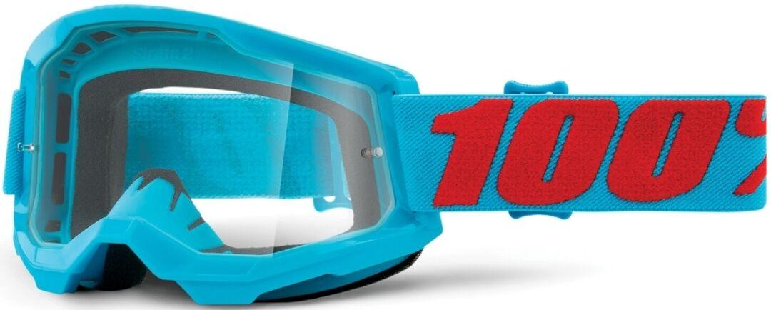 100% Strata II Summit Lunettes de motocross Rouge Bleu taille : unique taille