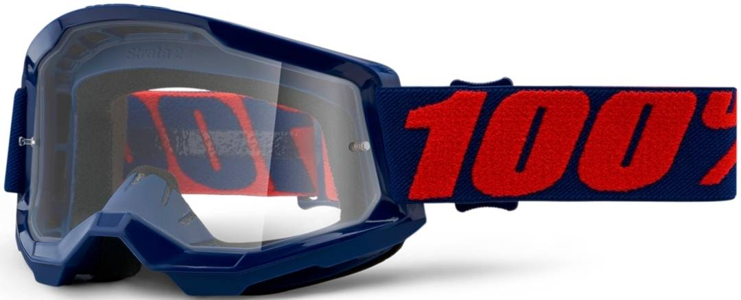 100% Strata II Masego Lunettes de motocross Rouge Bleu taille : unique taille