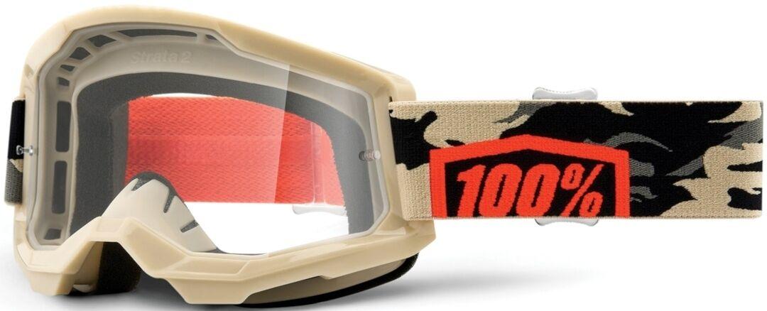 100% Strata II Kombat Lunettes de motocross Brun Beige taille : unique taille