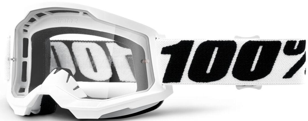 100% Strata II Everest Lunettes de motocross Noir Blanc taille : unique taille