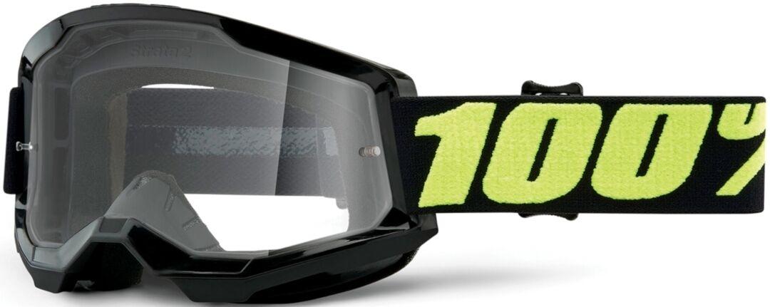 100% Strata II Upsol Lunettes de motocross Noir Jaune taille : unique taille