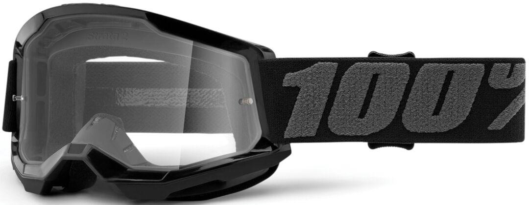 100% Strata II Lunettes de motocross pour les jeunes Noir Gris taille : unique taille