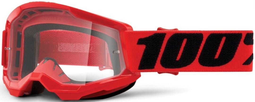 100% Strata II Lunettes de motocross pour les jeunes Noir Rouge taille : unique taille