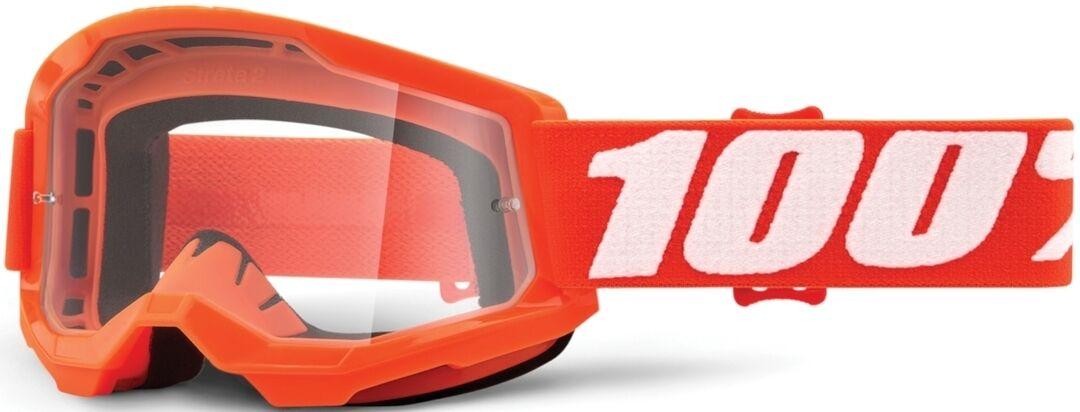 100% Strata II Lunettes de motocross pour les jeunes Noir Orange taille : unique taille