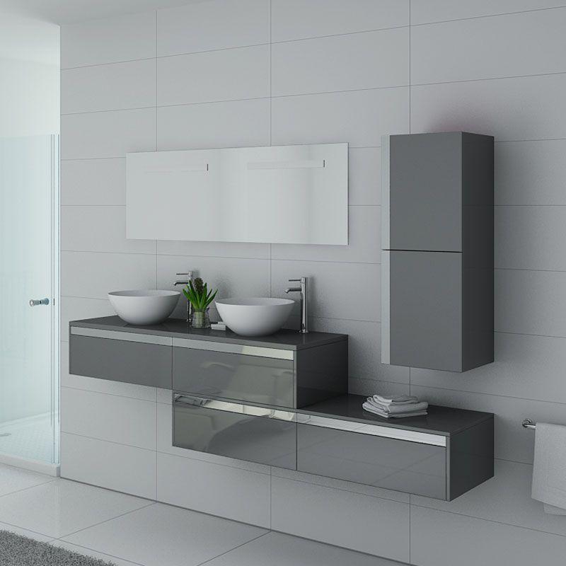 Distribain Meubles salle de bain DOLCE VITA GT Gris Taupe