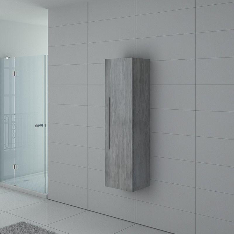 Distribain Meuble colonne PAL150BT salle de bain Béton