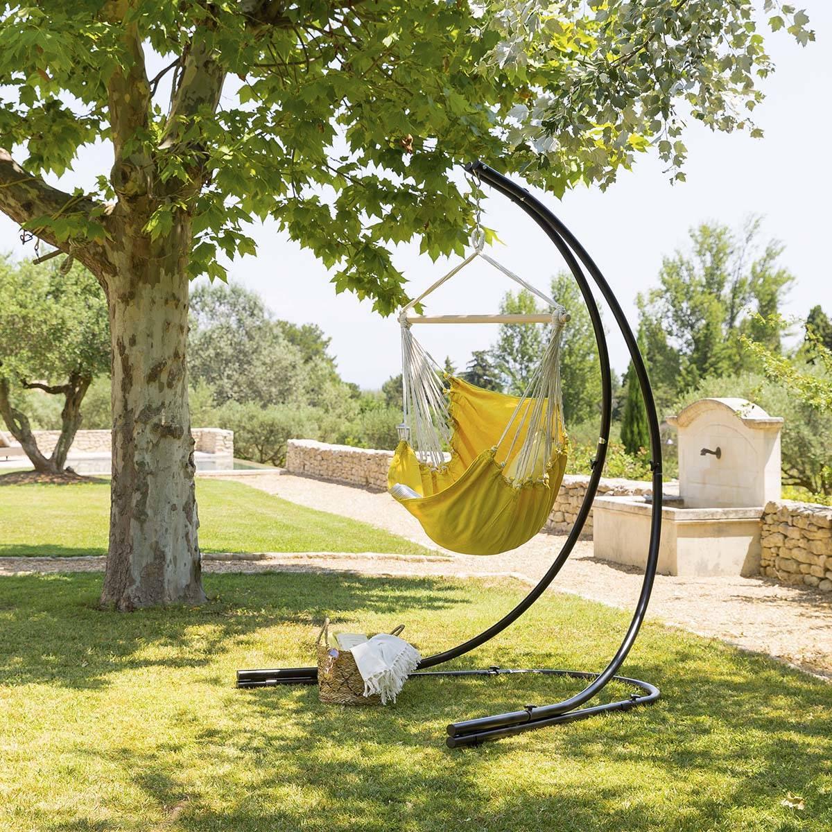 Hespéride Chaise de détente suspendue Cuenca Curry Jardin