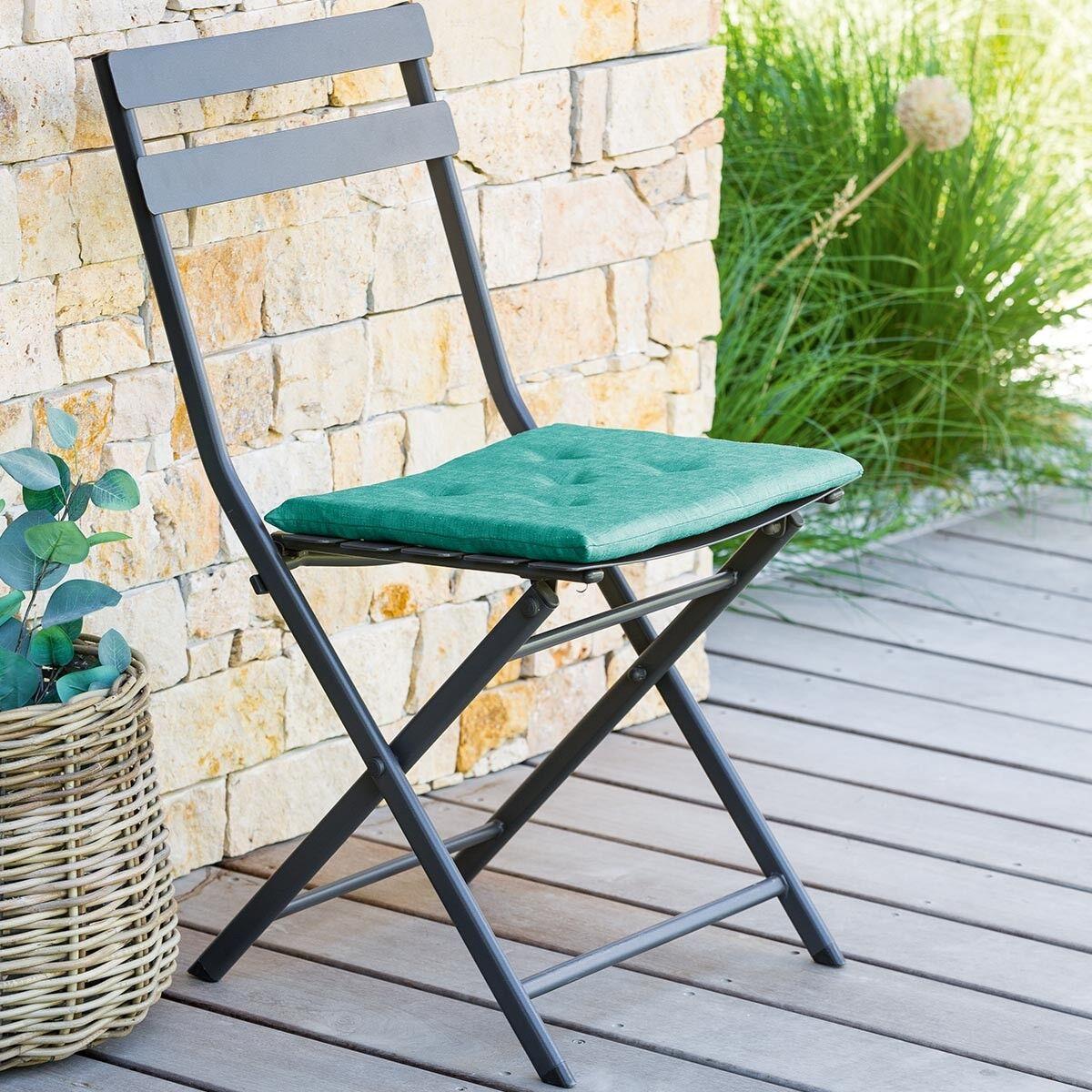 Hespéride Coussin aimanté Émeraude Jardin 38 x 33 cm - Polyester