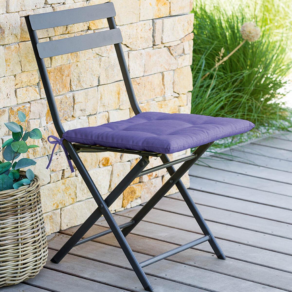 Hespéride Galette de chaise 4 points Korai Lavande Jardin