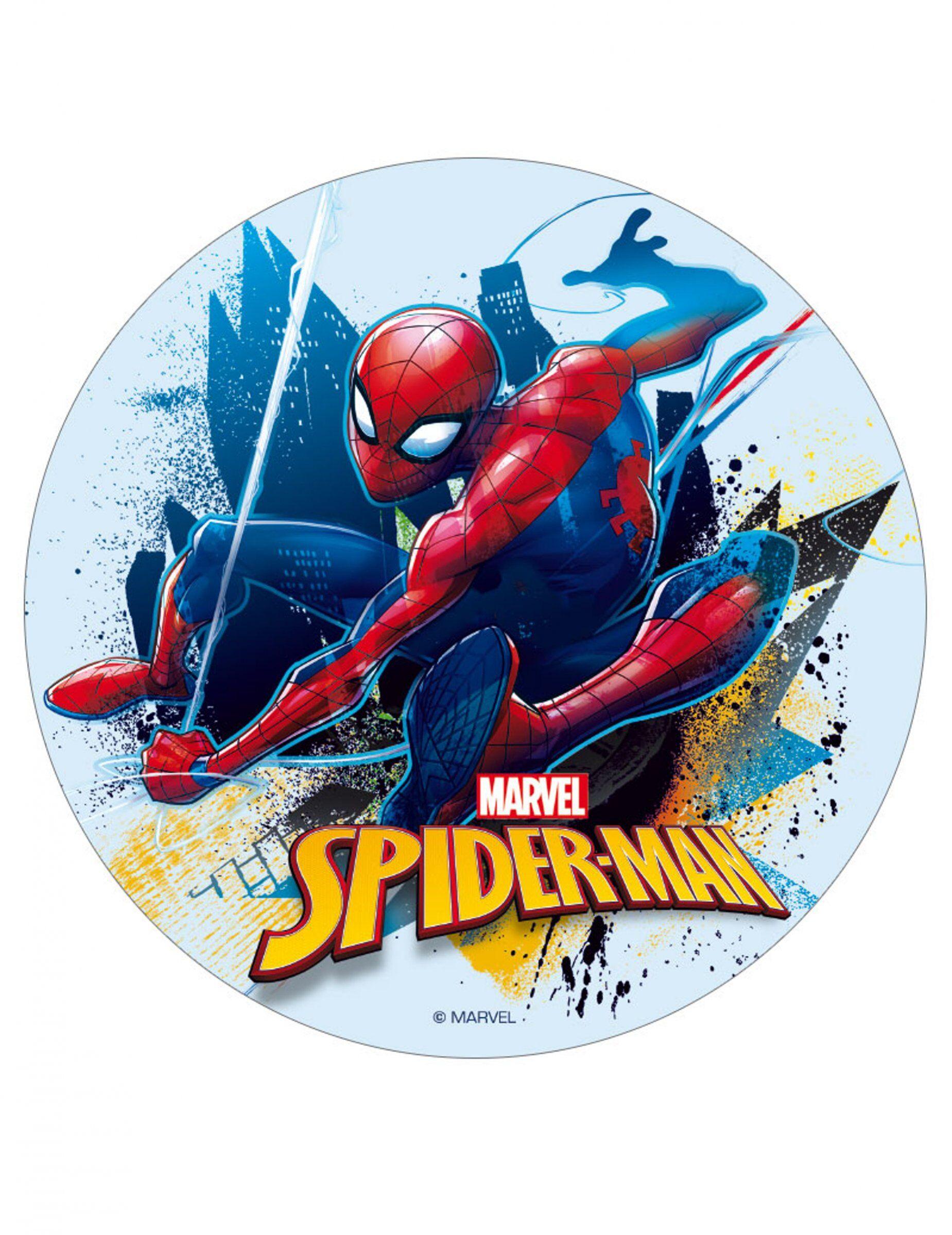 VegaooParty Disque en sucre Spiderman 16 cm