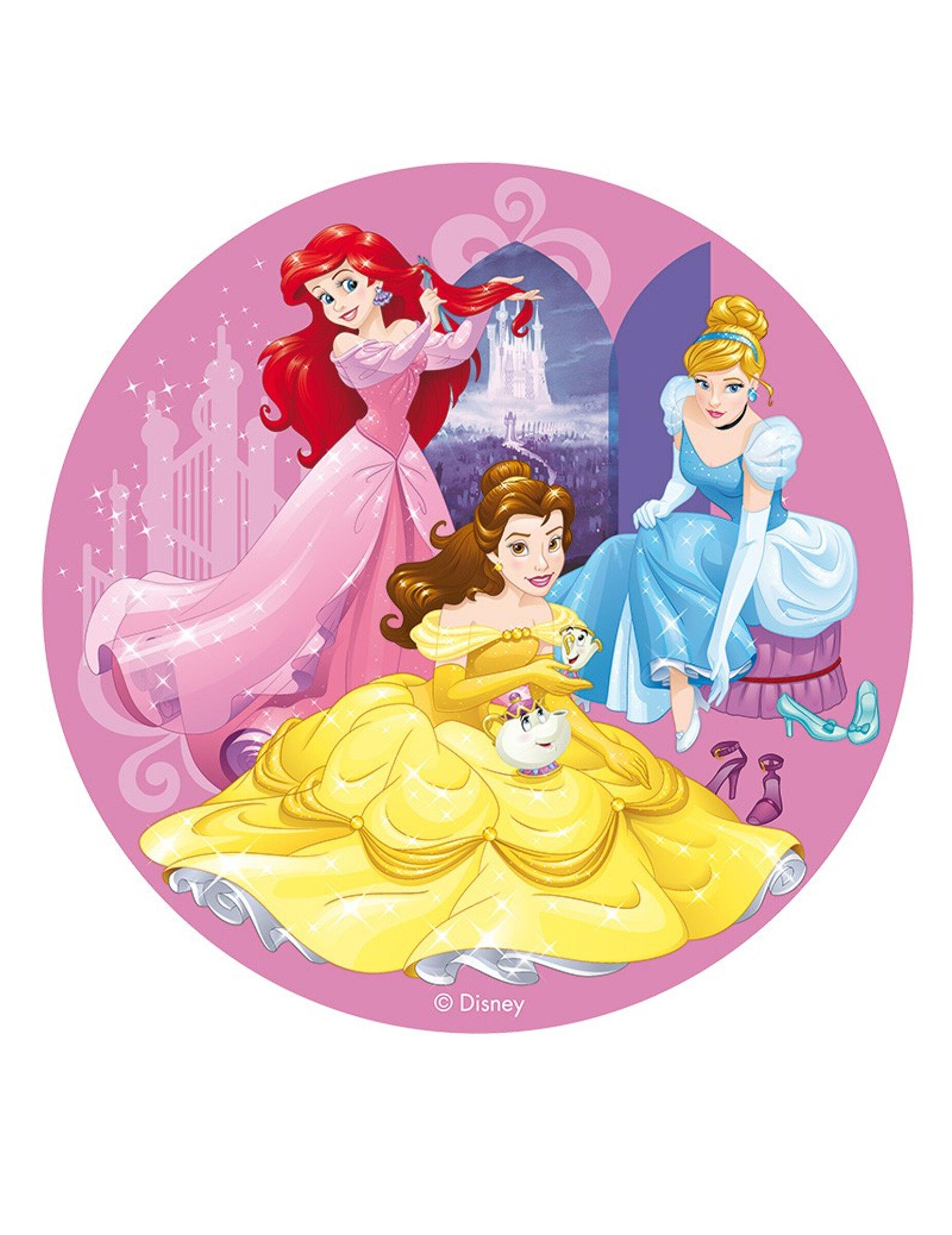 VegaooParty Disque en azyme Princesses Disney 20 cm