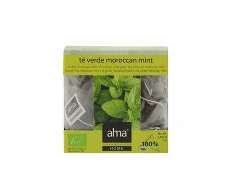 Alma Home Alma Infusion Maison Thé Vert Thé Vert Menthe du Maroc 15 Sacs