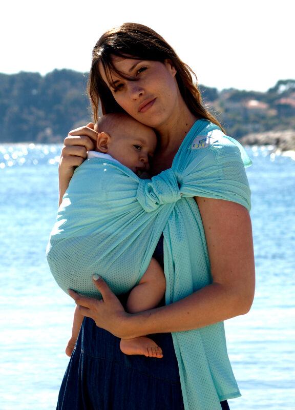 Sukkiri - Porte-bébé Sling - Menthe