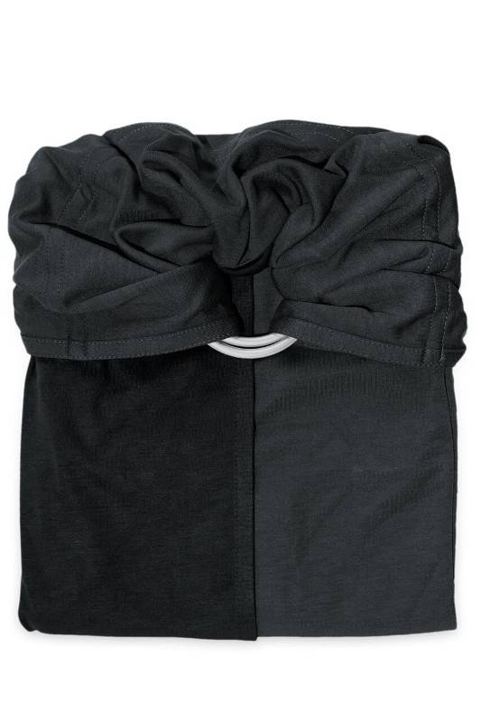 je porte mon bébé Écharpe sans noeud JPMBB Anthracite - Noir