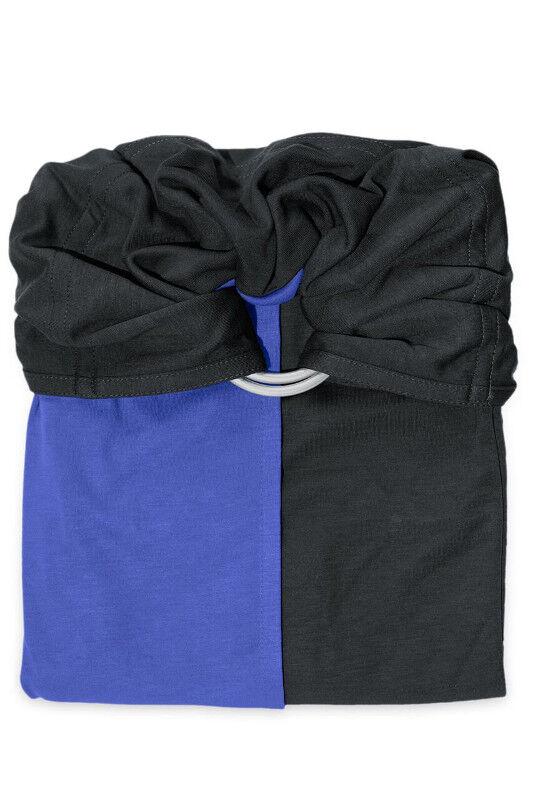 je porte mon bébé Écharpe de portage Sans Nœud JPMBB - Anthracite Iris