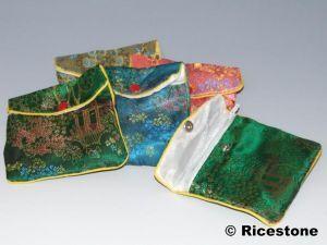 Ricestone 6d) 10x Pochettes cadeau tissu 11x10 cm