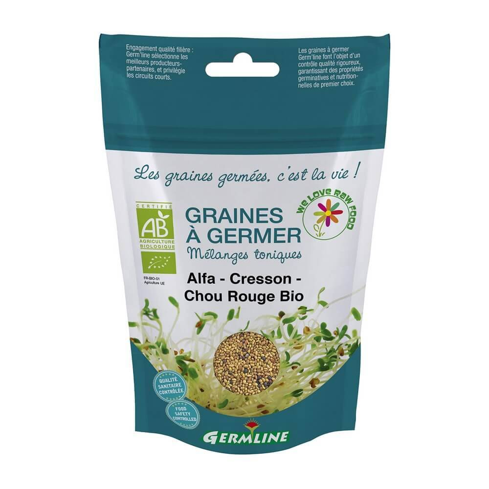 Germline Graines à germer Alfalfa - Cresson - Chou Rouge Germline
