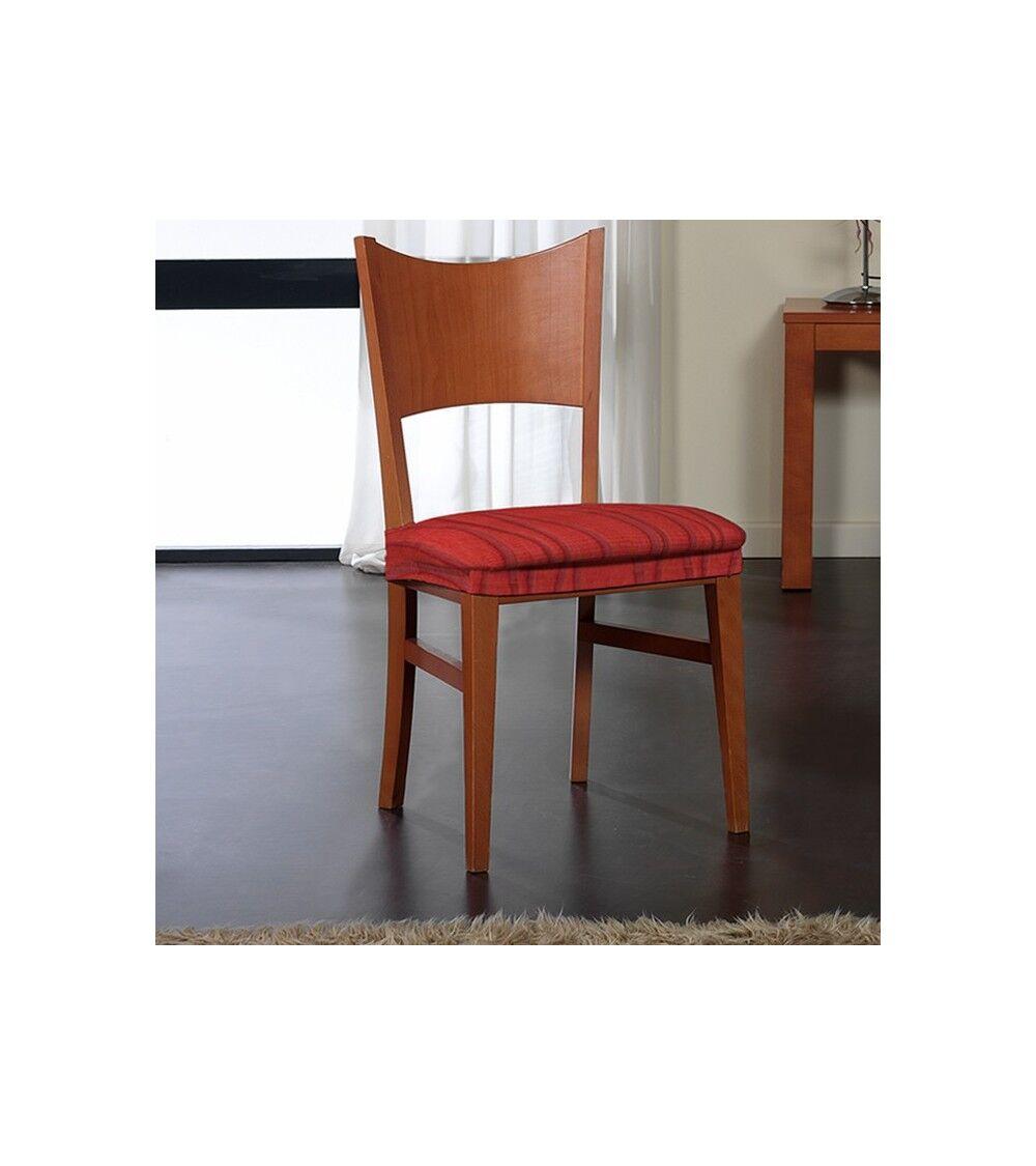 Housse assise de chaise extensible jacquard  Taille - lot de 2, Couleur - bordea