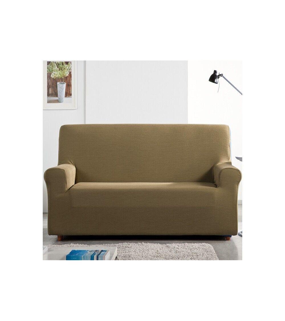 housse fauteuil et canapé extensible Samoa Taille - canapé maxi, Couleur - Taupe