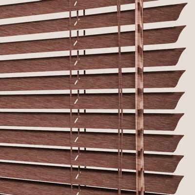 Store Vénitiens Aluminium chêne foncé