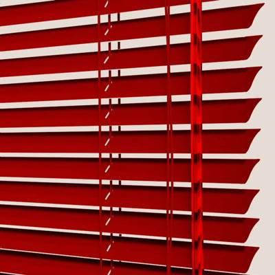 Store vénitien aluminium rouge