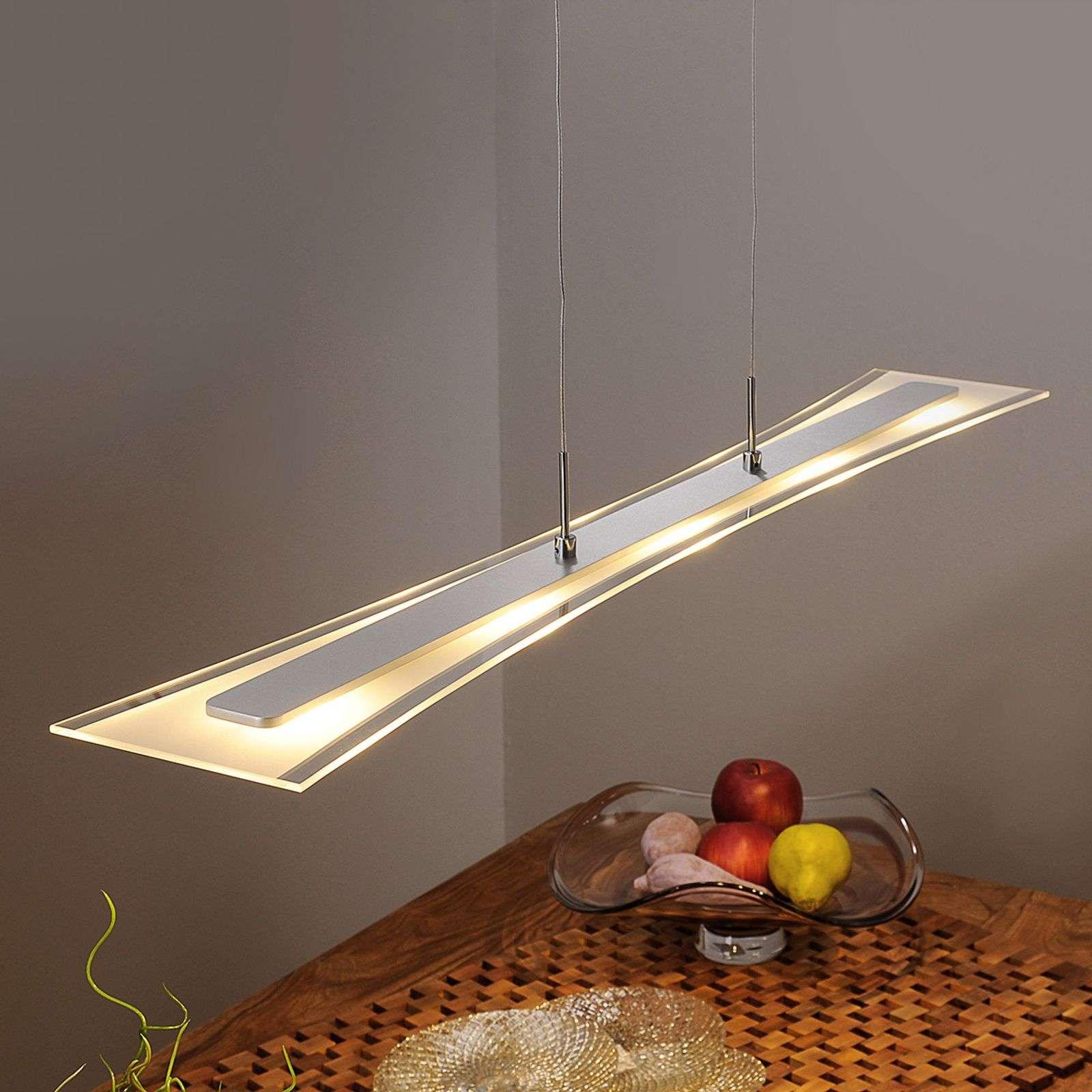 Lampenwelt.com Suspension LED Runia plate en verre - LAMPENWELT.com