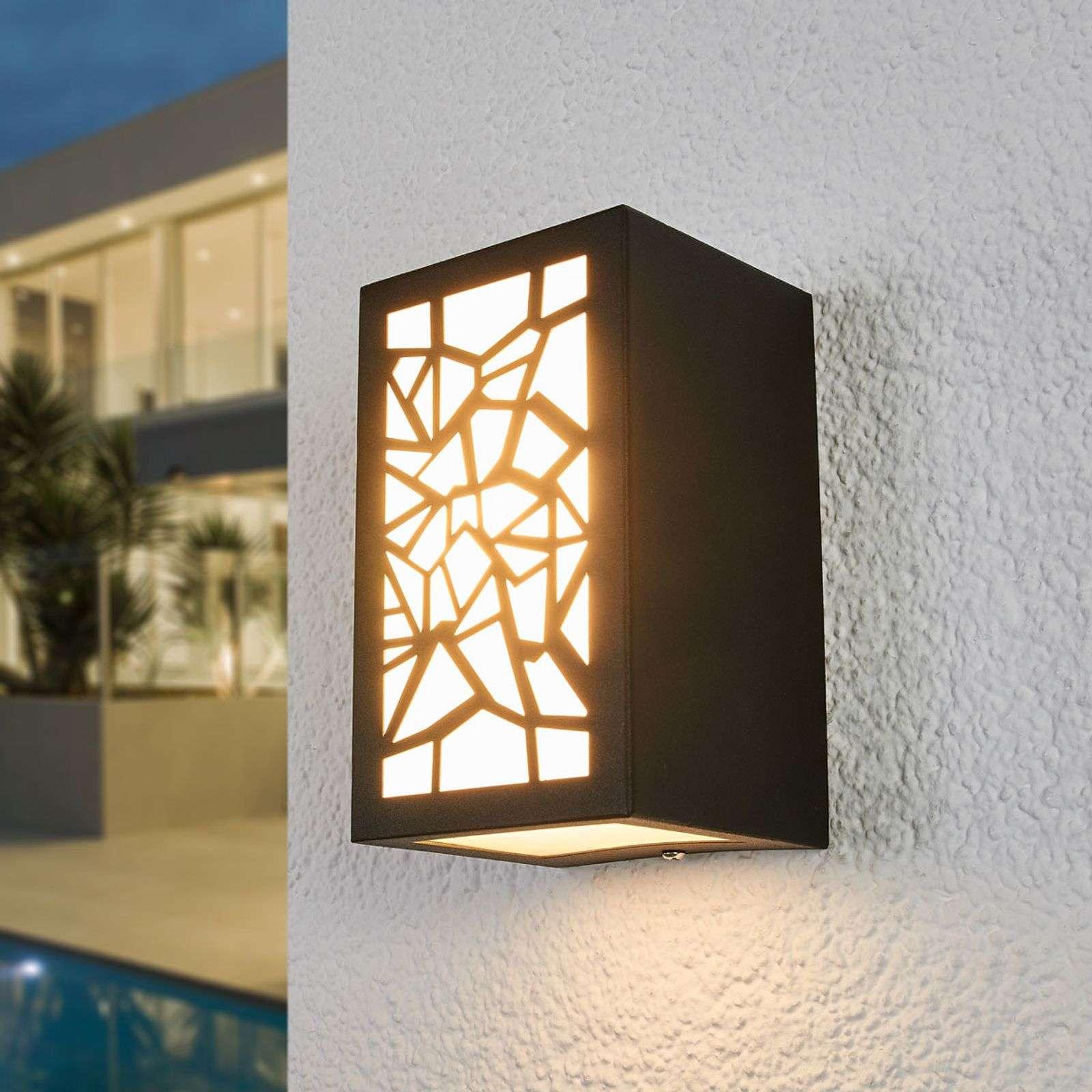 Lampenwelt.com Applique d'extérieur LED Semina à motif - LAMPENWELT.com