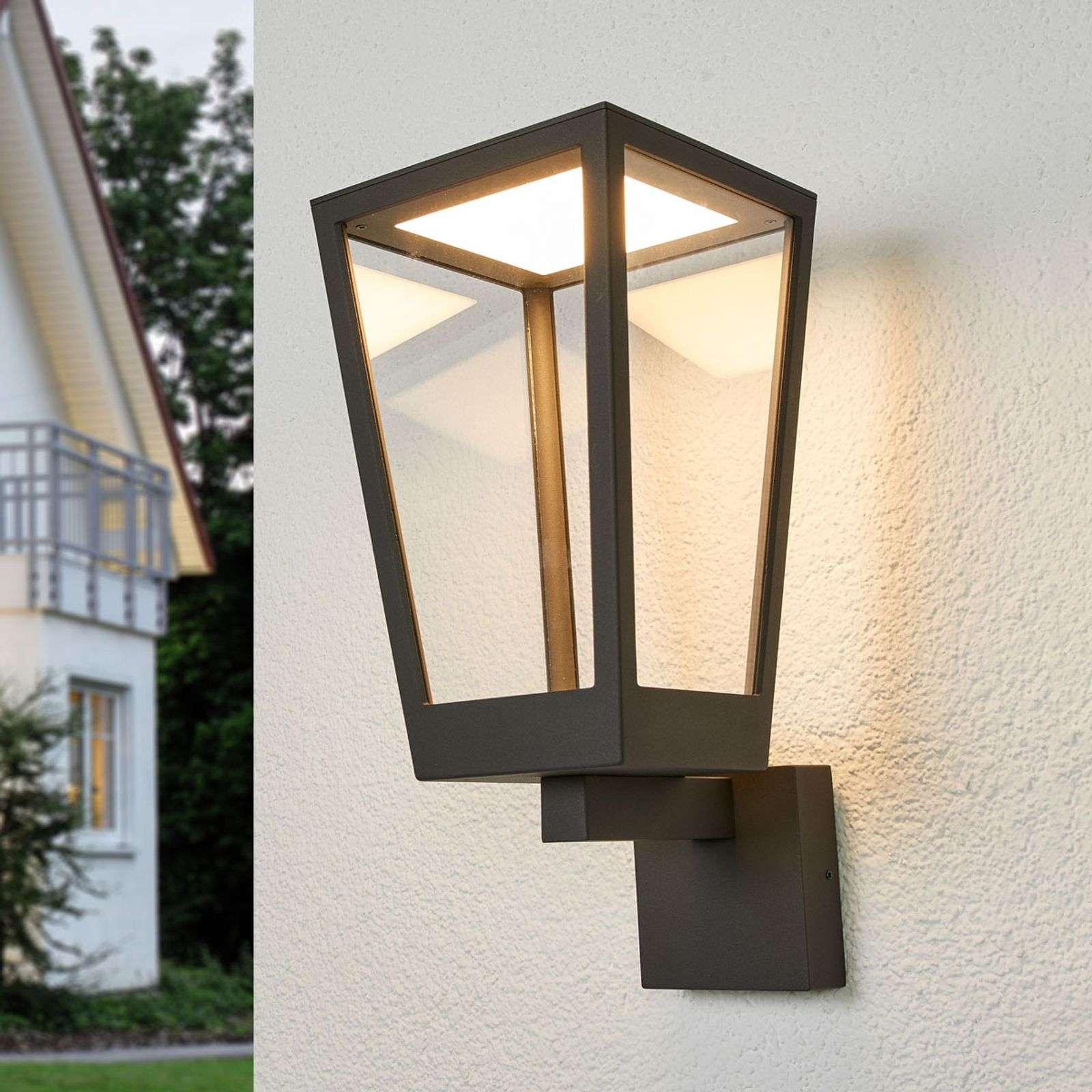 Lampenwelt.com Applique d'extérieur LED Chaja, forme de lanterne - LAMPENWELT.com