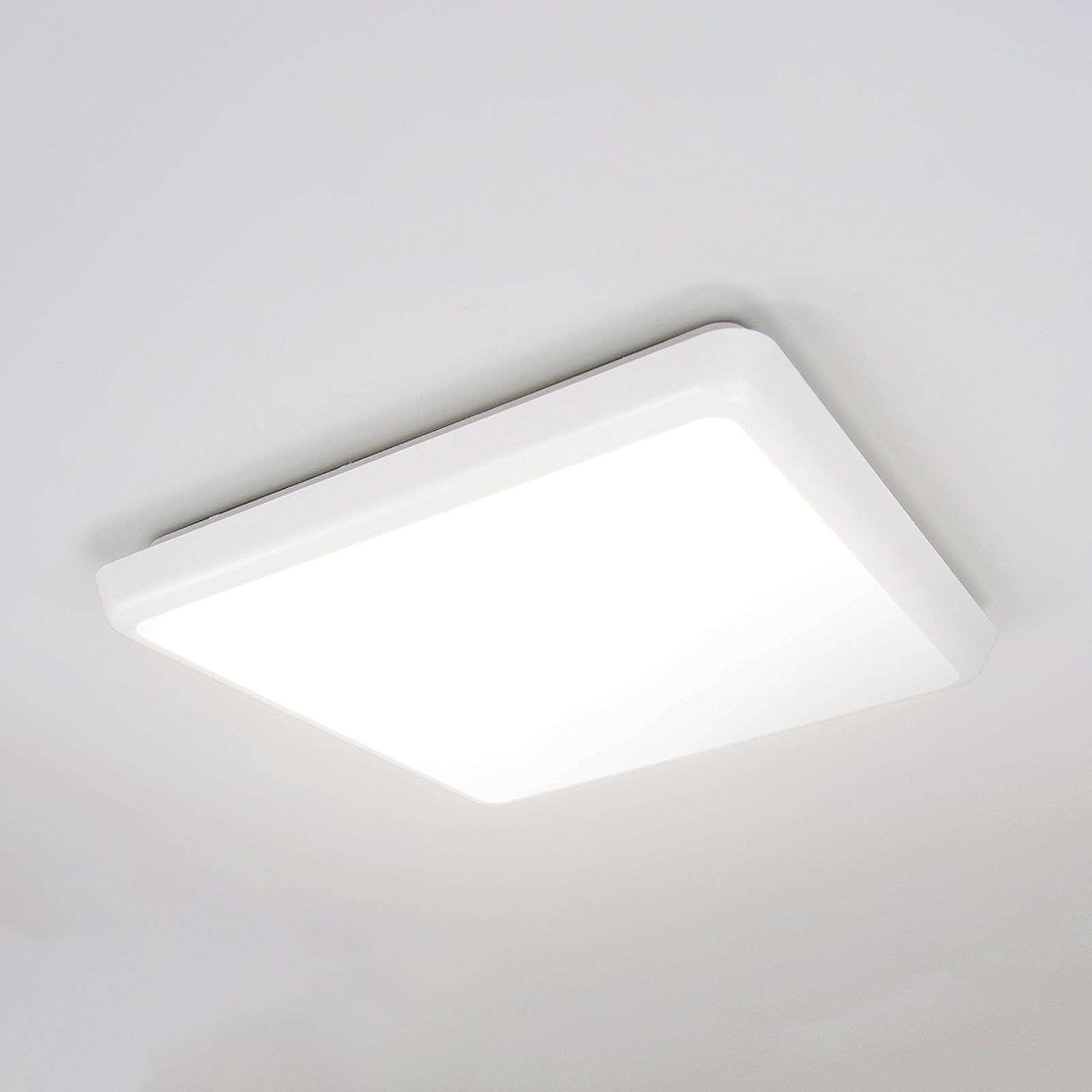 Lampenwelt.com Plafonnier discret Augustin avec LED, IP54 - LAMPENWELT.com