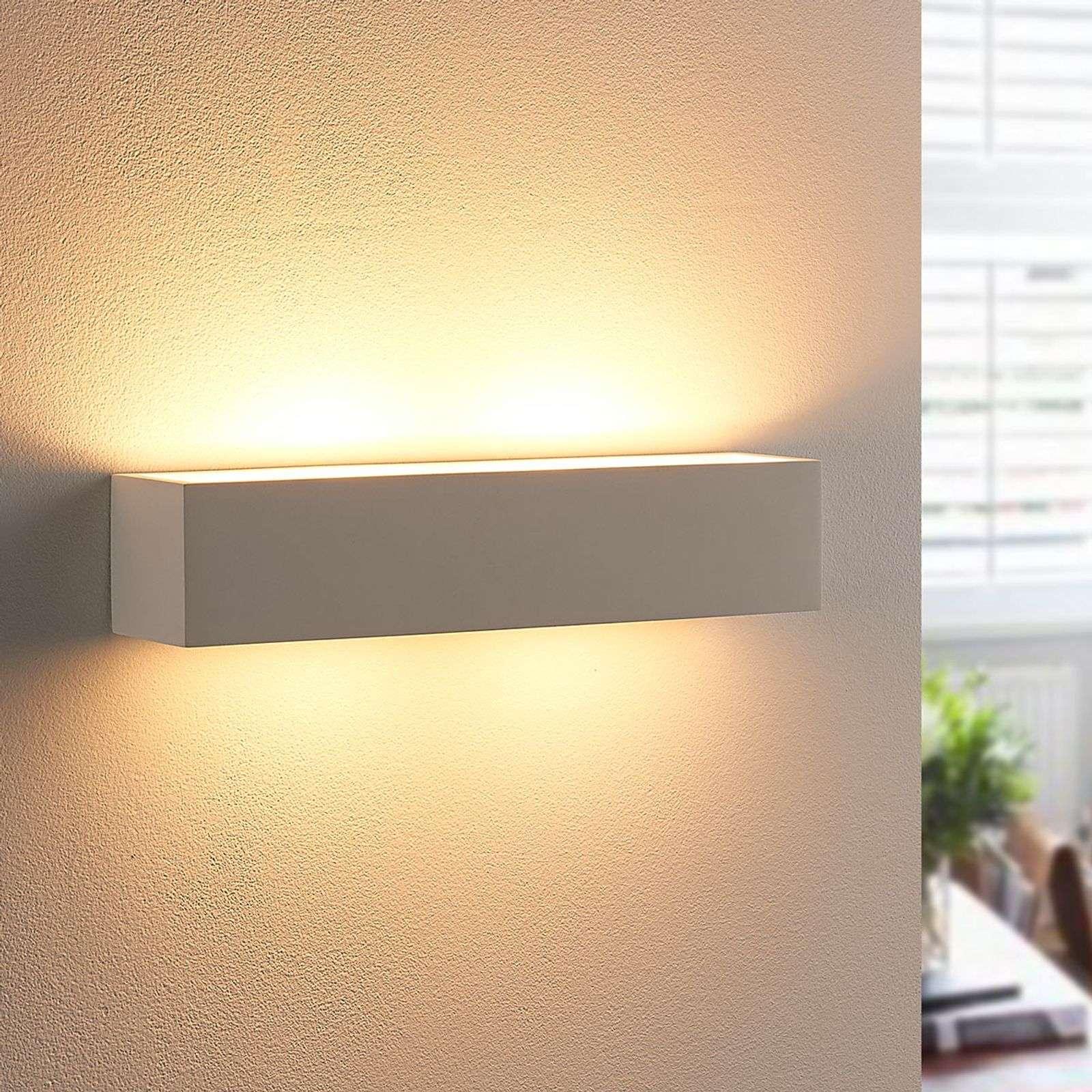 Lampenwelt.com Applique murale en plâtre Tjada à ampoule LED G9 - LAMPENWELT.com