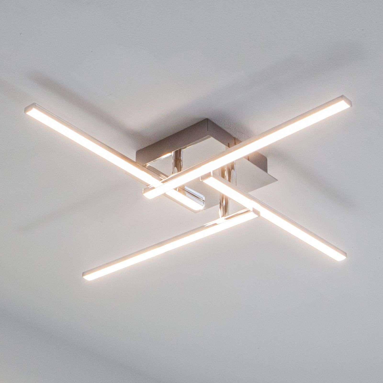 Lampenwelt.com Plafonnier rectiligne LED Nikan - LAMPENWELT.com