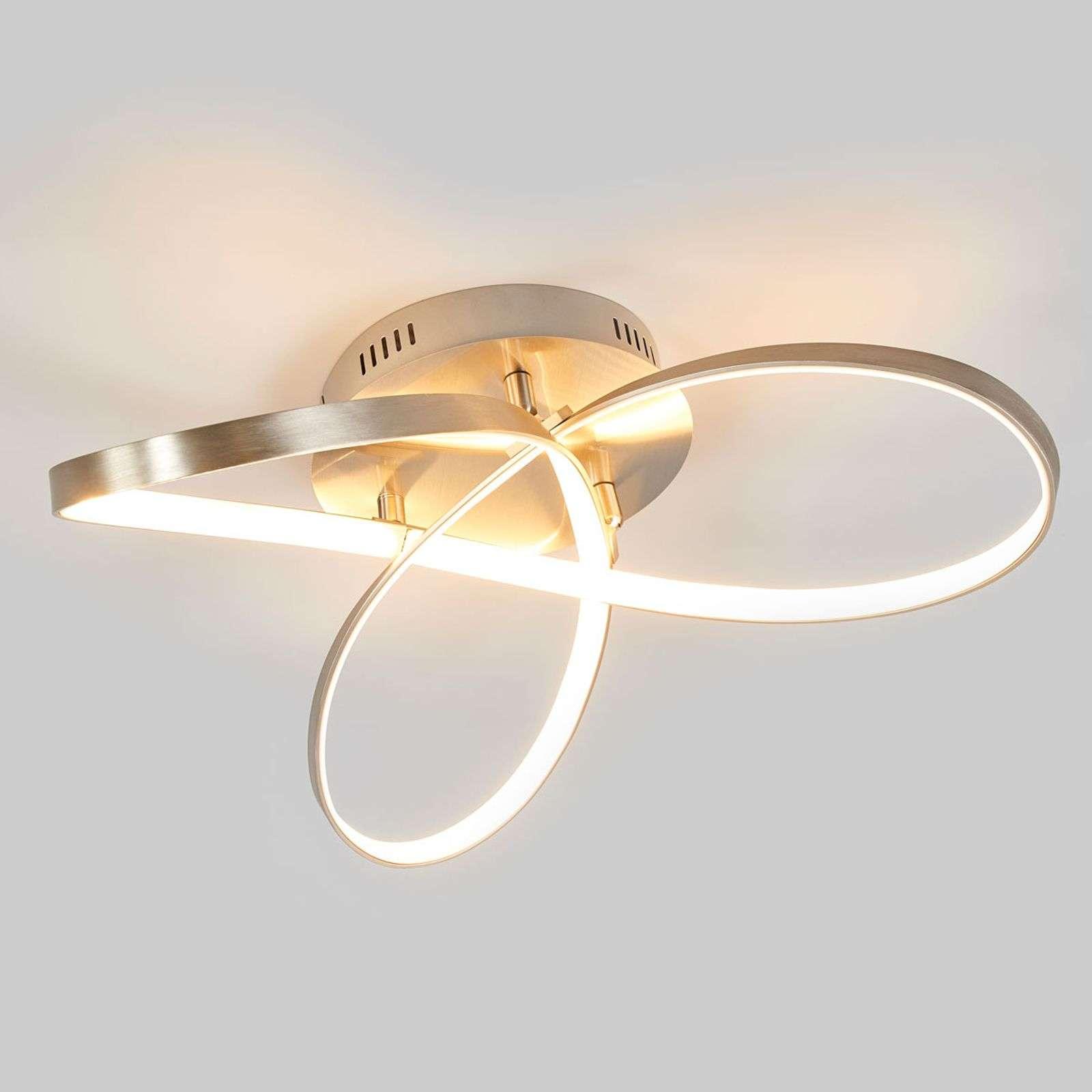 Lampenwelt.com Plafonnier LED Saliha au design moderne - LAMPENWELT.com