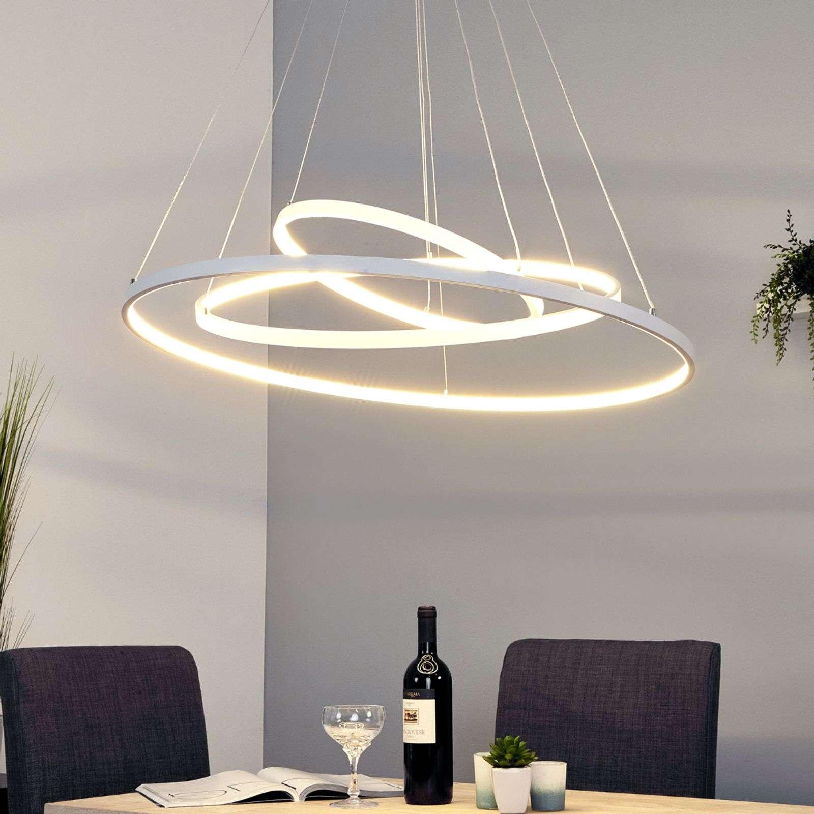 Lampenwelt.com Puissance suspension LED Eline avec 3 anneaux - LAMPENWELT.com