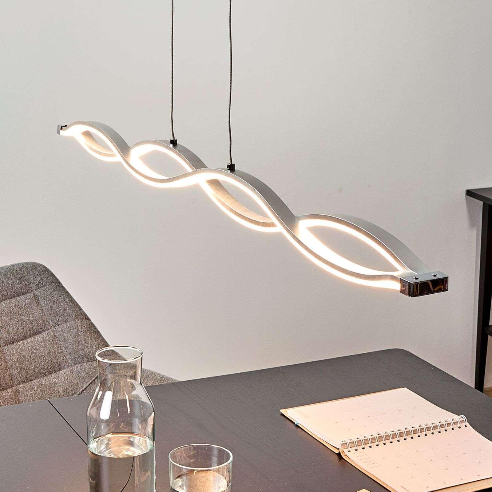 Lampenwelt.com Suspension en forme de vague Tura LED vives - LAMPENWELT.com